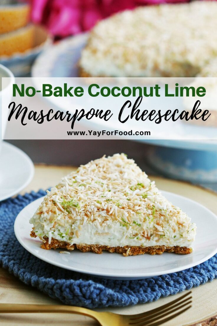 Looking for a no-bake cheesecake recipe? This perfect summer dessert features the classic flavours of coconut and lime with no need to turn on the oven.