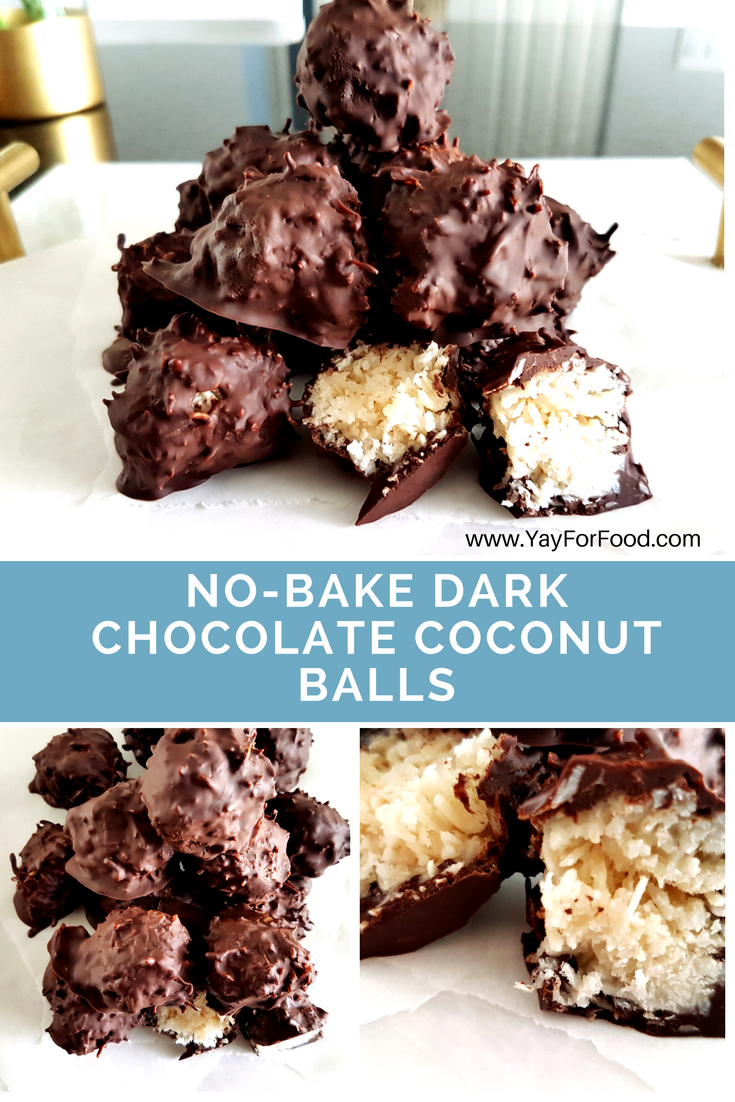 Delicious, no-bake treat made with dark chocolate and coconut! Enough said!