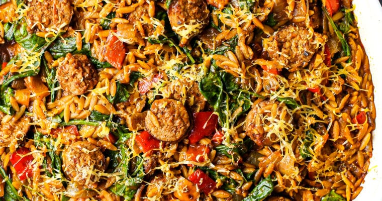 One-Pan Italian Sausage and Orzo Pasta