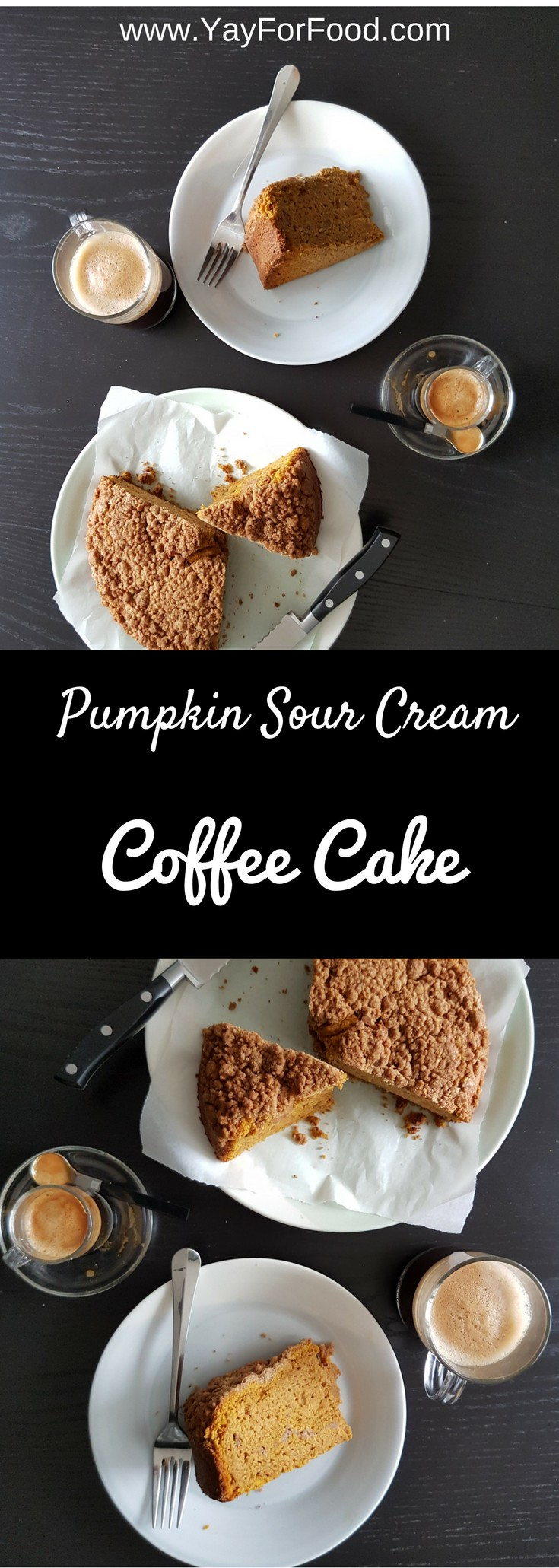 This delicious and moist coffee cake has wonderful pumpkin and spice flavours. The sweet and crunchy brown sugar topping makes this coffee cake so tasty!
