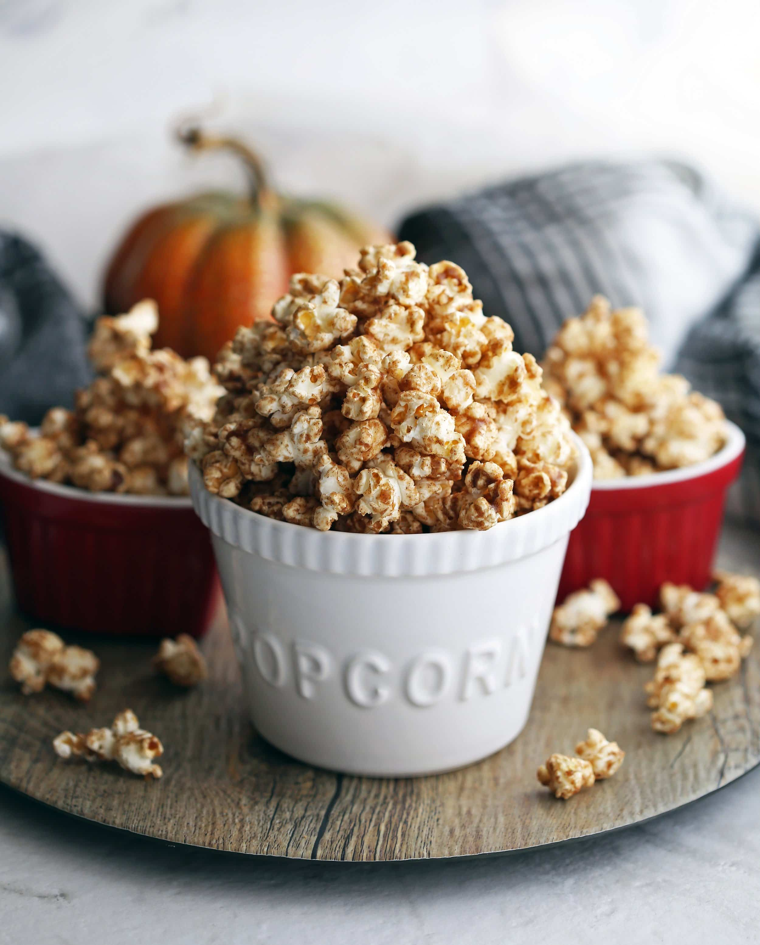 Homemade Pumpkin Spice Butterscotch Popcorn