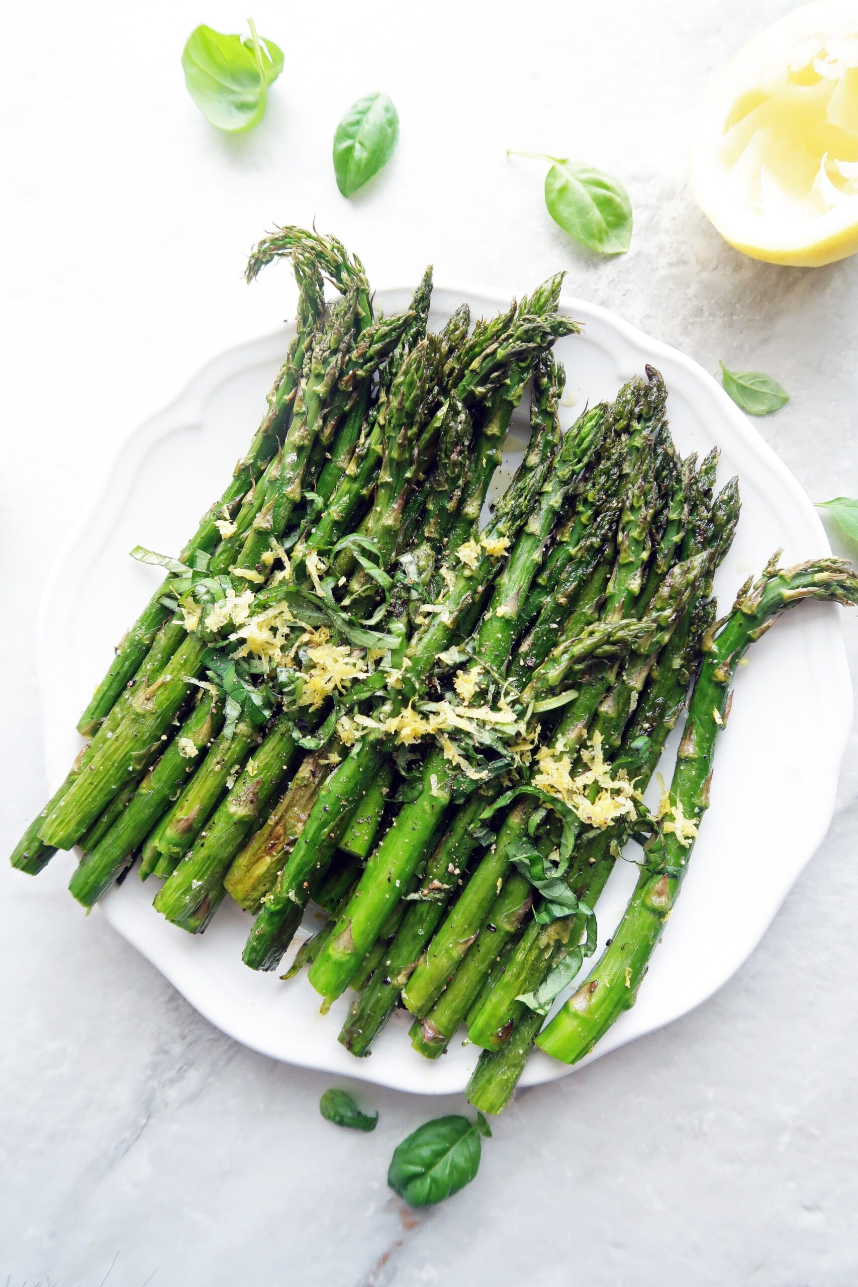 Quick Roasted Asparagus with Lemon and Basil