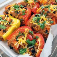 Quinoa and Black Bean Stuffed Bell Peppers