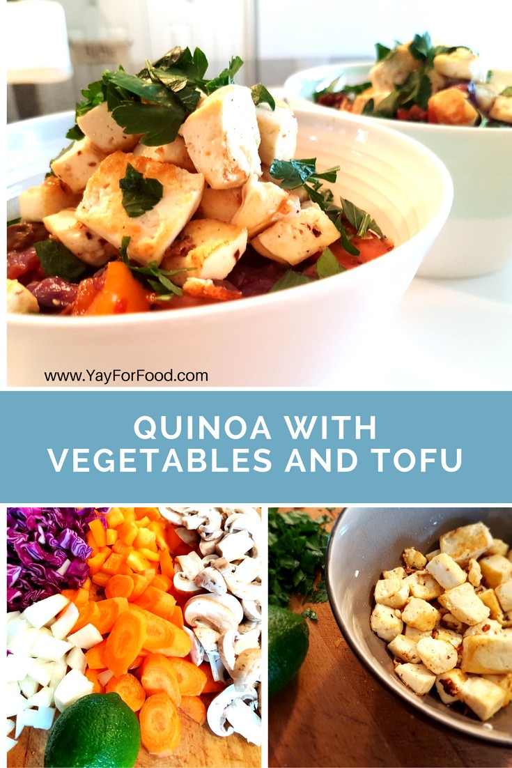 A great vegetarian meal that is healthy and filling. This recipe is jam-packed with colourful vegetables and protein-rich tofu.