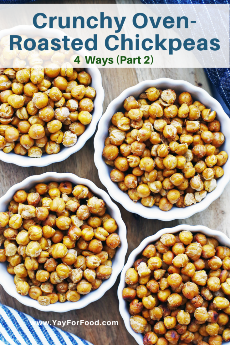A delicious snack with endless flavour possibilities, roasted chickpeas provide a healthier option that you can customize. From salt and vinegar to honey garlic, this recipe showcases four more delicious combinations.