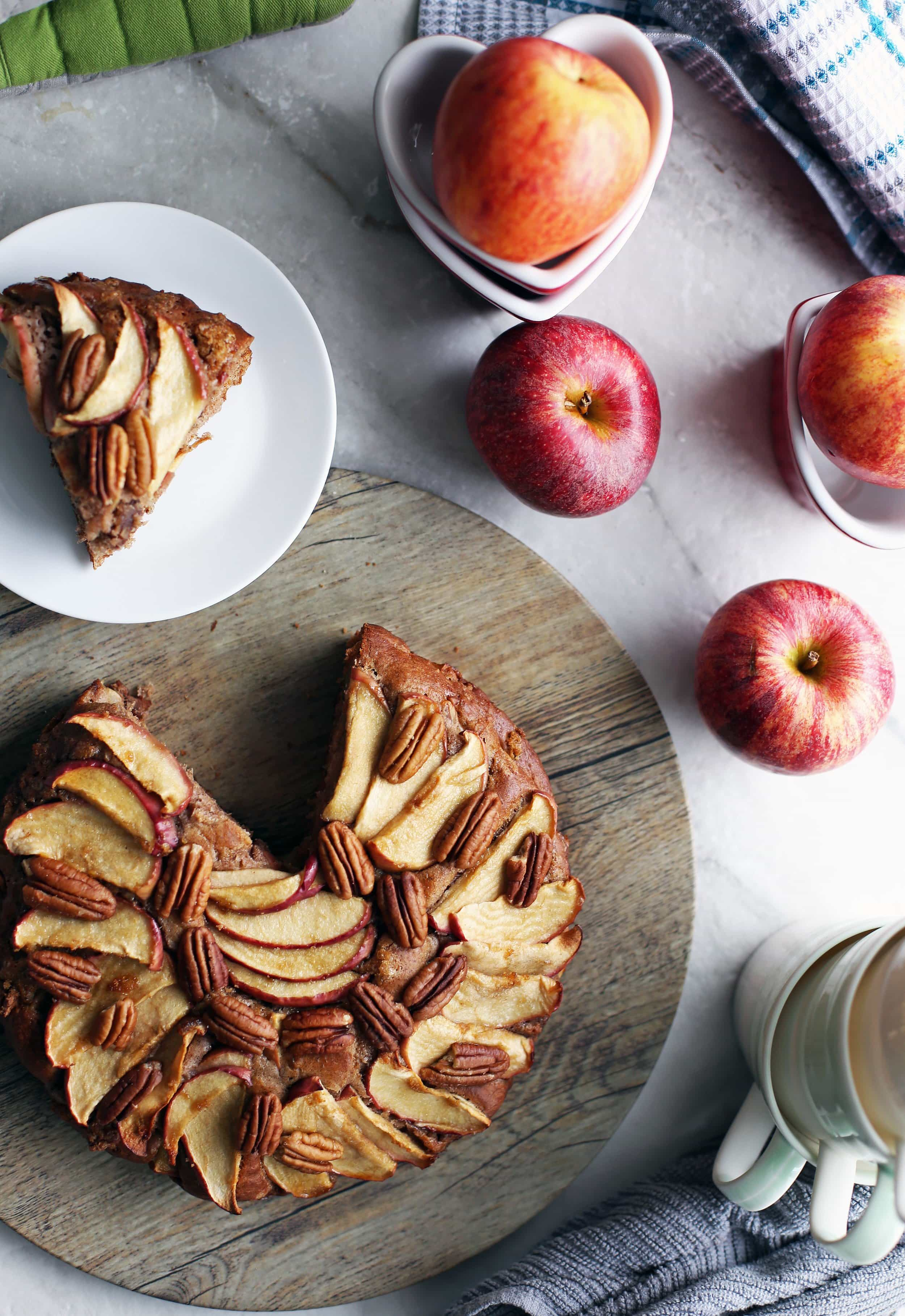 Rustic Apple Cinnamon Pecan Cake