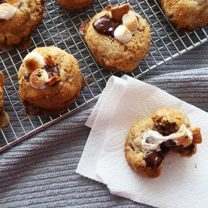 Soft and Chewy S'more Cookies