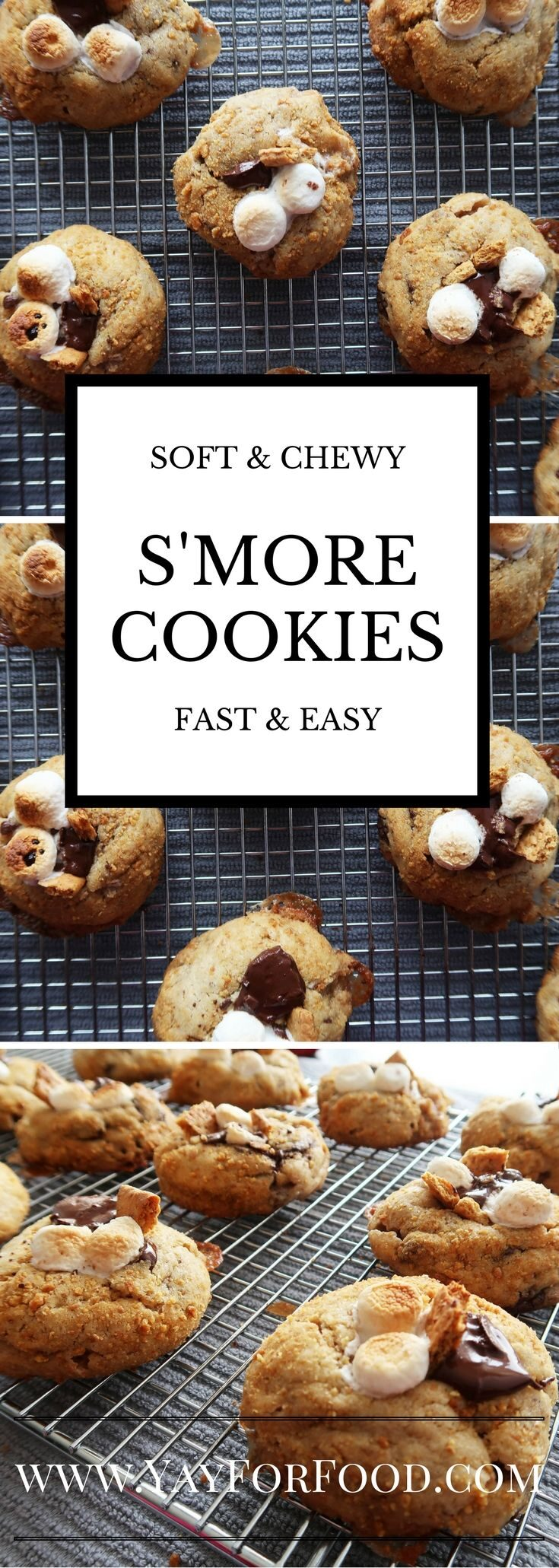 """<span style=""""font-size:14.6667px"""">Chocolate, marshmallows, and graham crackers! It's a s'more, but in delicious, soft and chewy cookie form!</span>"""
