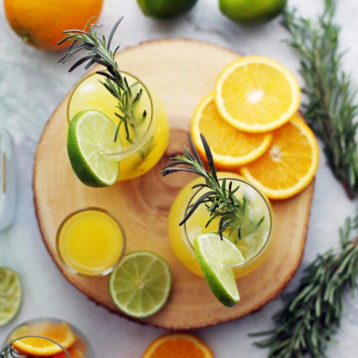 Sparkling Maple Orange Vodka Spritzer