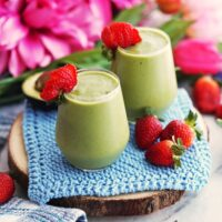 Strawberry Avocado Green Smoothie