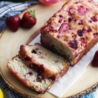 Strawberry Lemon Yogurt Quick Bread