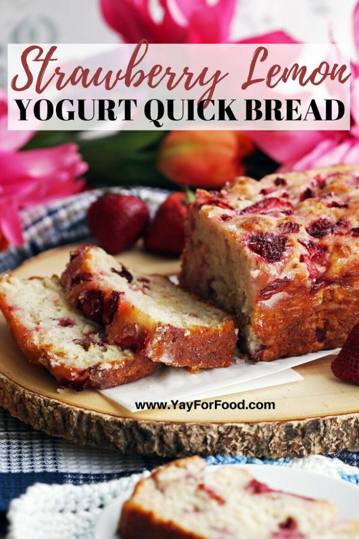 Sweet, fluffy, and easy to make. This quick bread recipe is packed full of strawberry and lemon flavour. Yogurt gives an added tanginess while reducing calories. Ready in just over an hour with no proofing required.