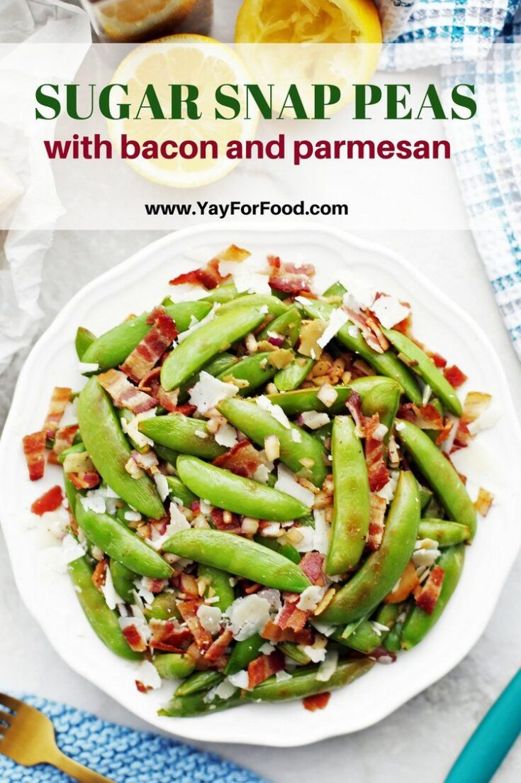 Enjoy this quick and easy side dish featuring tender-crisp snap peas, crispy bacon, and savory parmesan! Ready in 20 minutes.