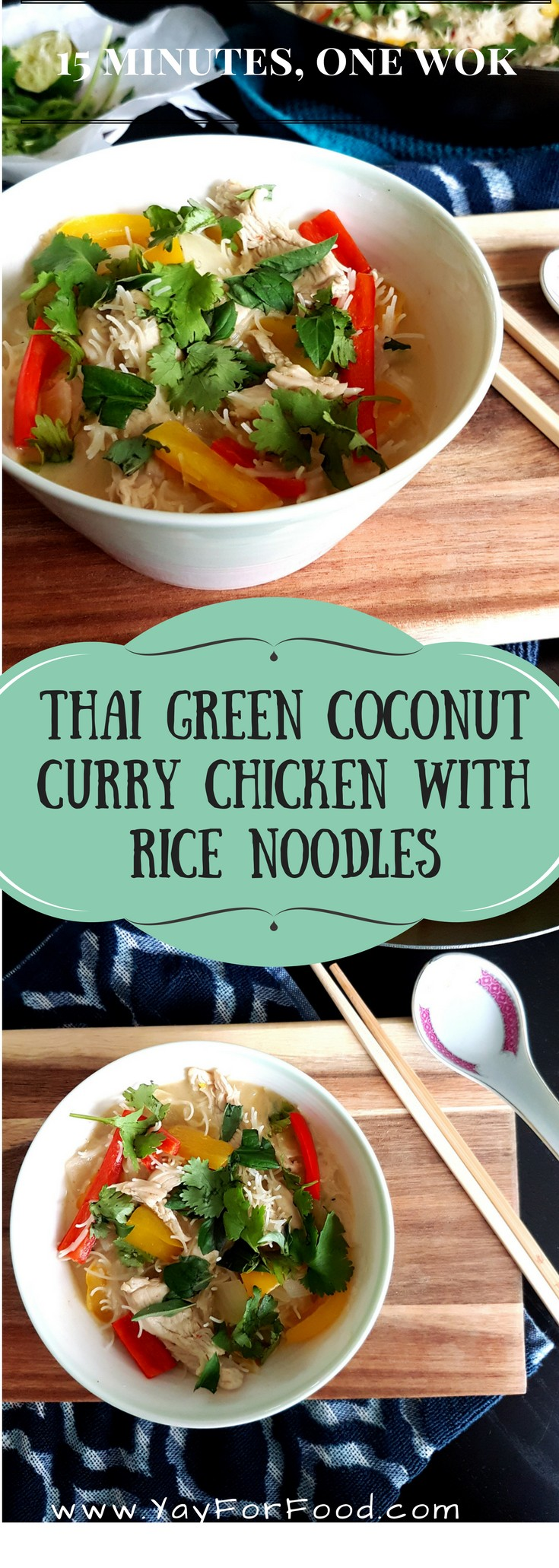 Minimal effort, maximum Thai flavours. This recipe has a bit of a spicy kick due to the addition of the aromatic green curry paste. The coconut milk gives the noodles a rich creaminess, and the green herbs provides a flavourful freshness to this easy meal.