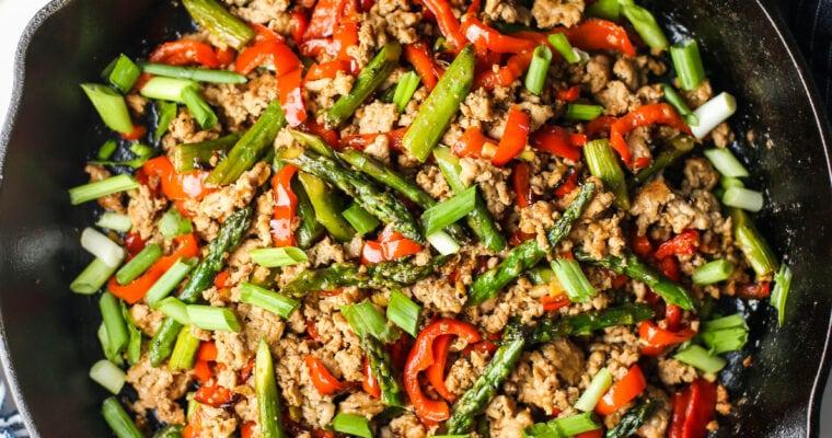 One-Pan Turkey Asparagus Stir-Fry