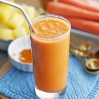 Turmeric Pineapple Carrot Smoothies