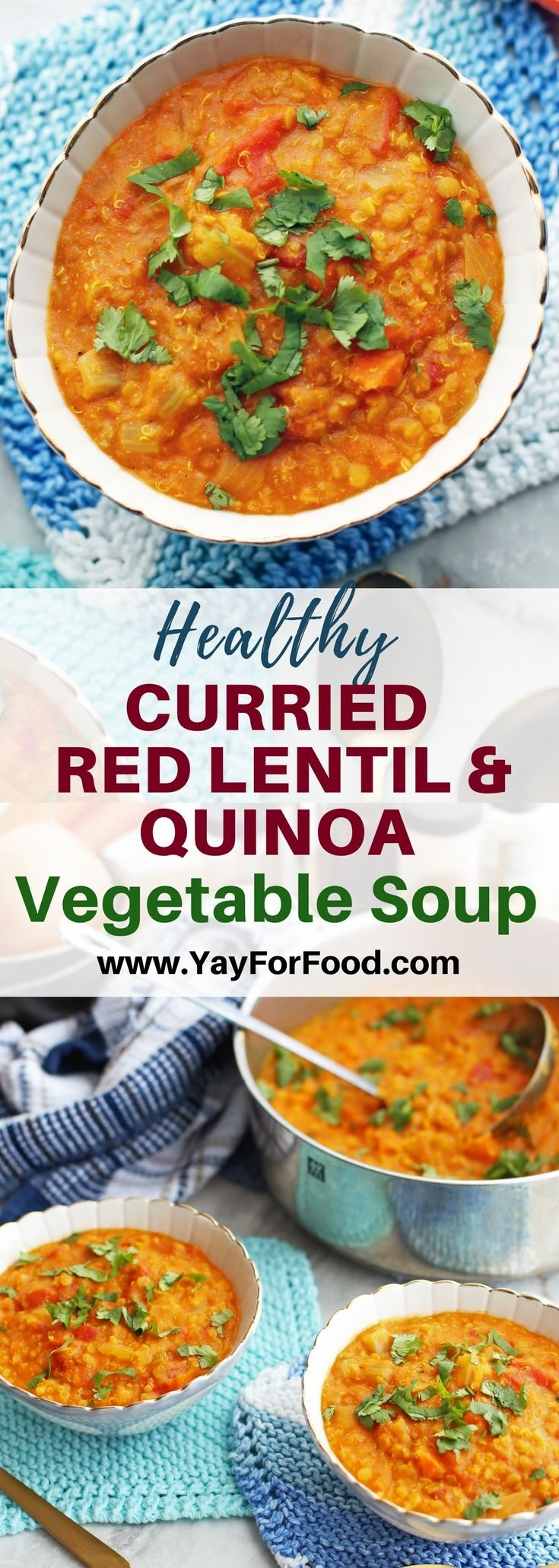 Hearty and delicious! This easy soup is loaded with healthy protein and fiber-rich ingredients! It's vegan and gluten-free too.