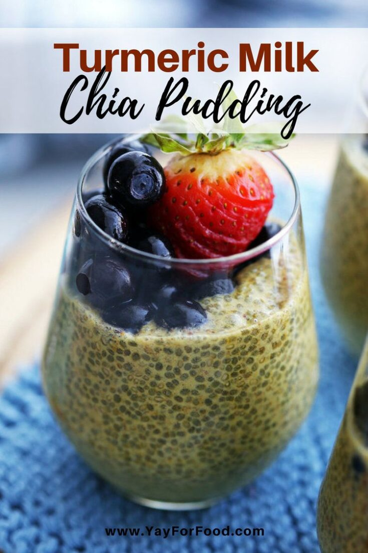 A healthy treat that's perfect for breakfast, a snack, or a light dessert! Try this simple, vegan turmeric milk (aka golden milk) chia pudding!
