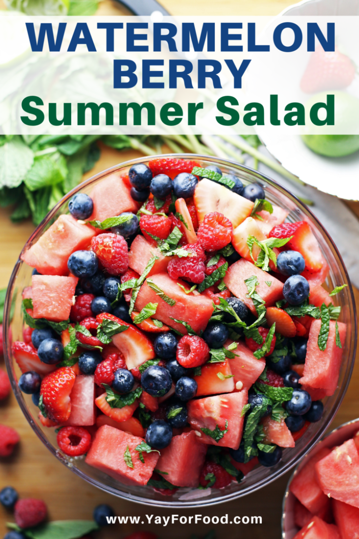 Bursting with sweet, colourful fruit and fresh, cooling mint, this vibrant watermelon salad recipe is so easy to make and delicious you'll want to serve it all summer long.