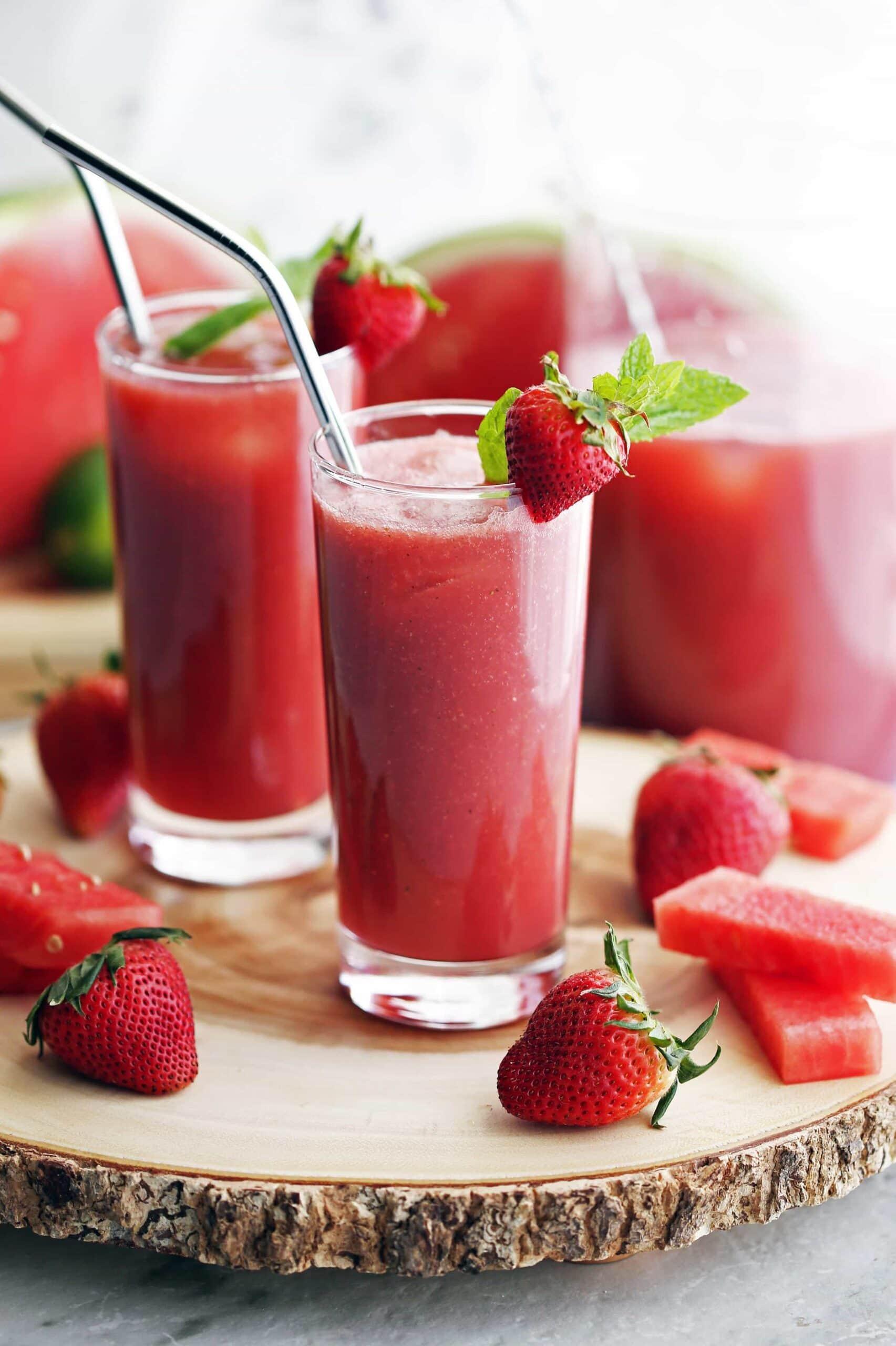 Fresh Watermelon Strawberry Soda
