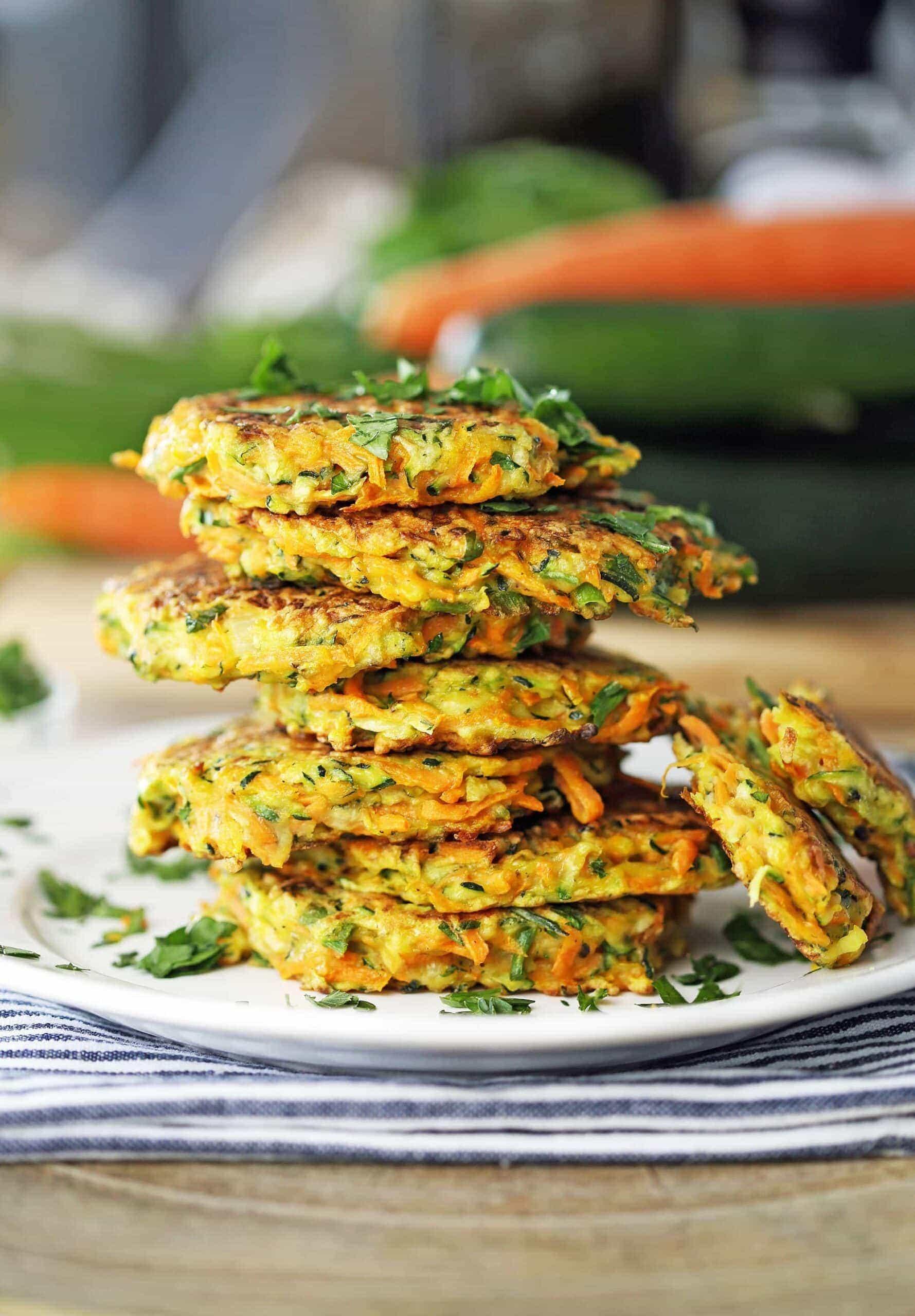 Easy Zucchini Carrot Pancakes