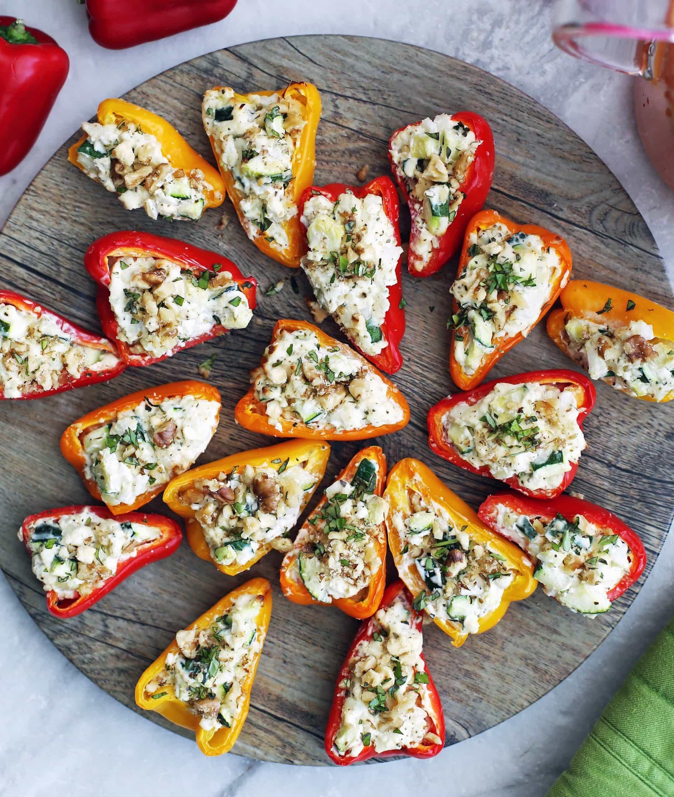 Zucchini Cream Cheese Mini Stuffed Peppers